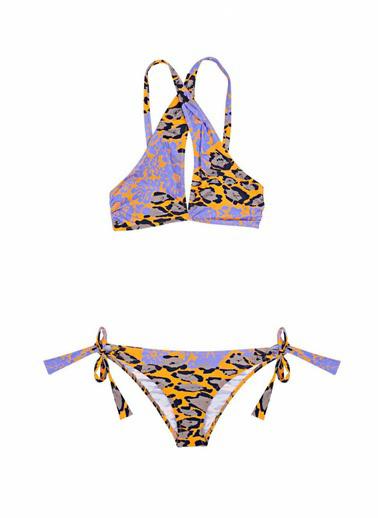 Ayyıldız Çapraz Bağlamalı Bikini Takımı Hardal